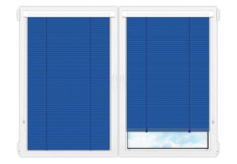 Жалюзи Изотра 25 мм на пластиковые окна - цвет горечавково-синий