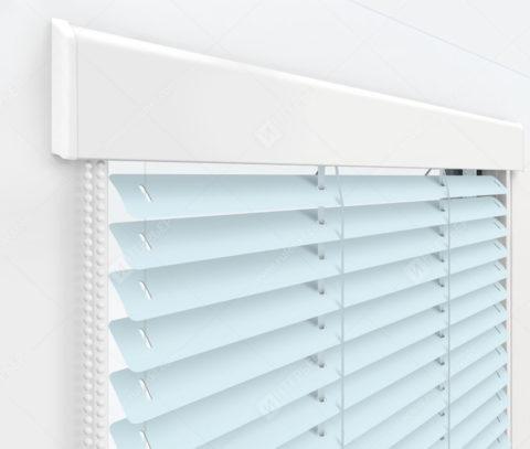 Жалюзи Изолайт 25 мм на пластиковые окна - цвет голубой