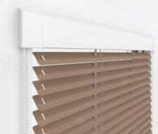 Жалюзи Изотра 25 мм на пластиковые окна - цвет серо-бежевый