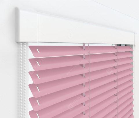 Жалюзи Изотра 25 мм на пластиковые окна - цвет светло-розовый